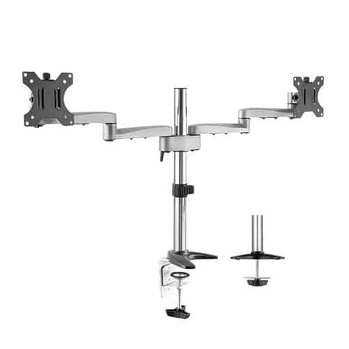 aluminium dual monitor arm