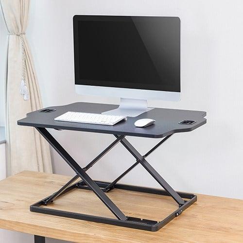 slim sit stand desk stand