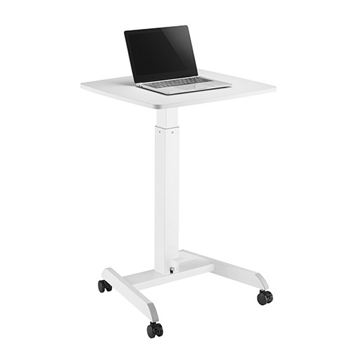 height adjustable laptop and on floor computer workstation
