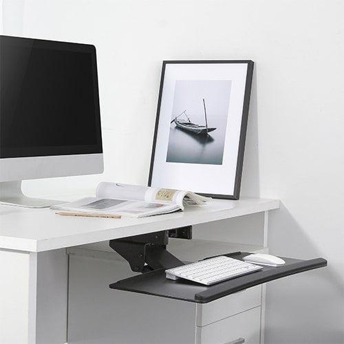 under desk movable keyboard tray