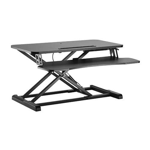 monitor table stand hydraulic gas spring sit stand desk workstation