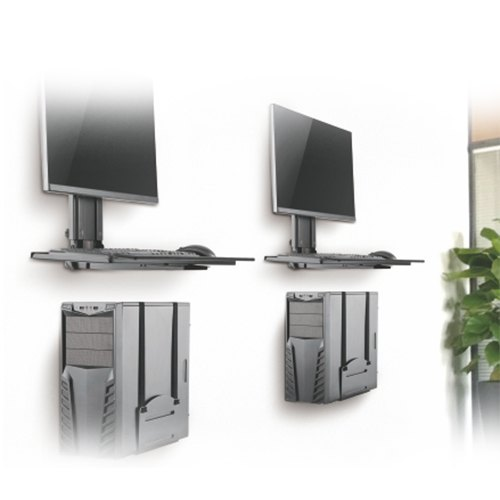 wall mount computer workstation