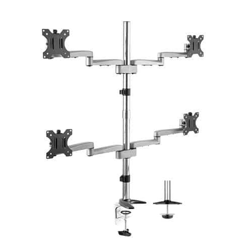aluminum four monitor arm