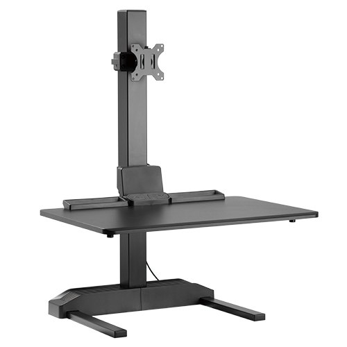gas spring single monitor vertical bar sit stand