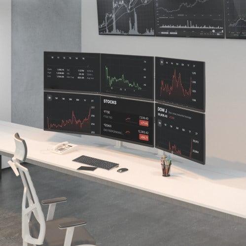 triple screen monitor stand